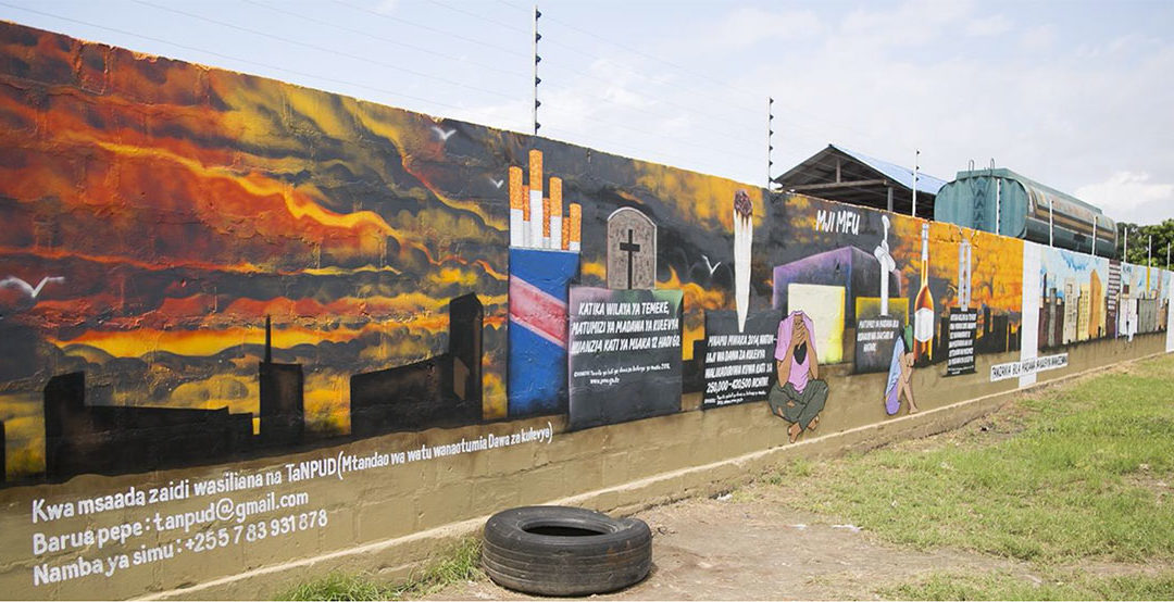 Data Murals Tackle Drug Abuse and Reproductive Health Challenges in Dar Es Salaam
